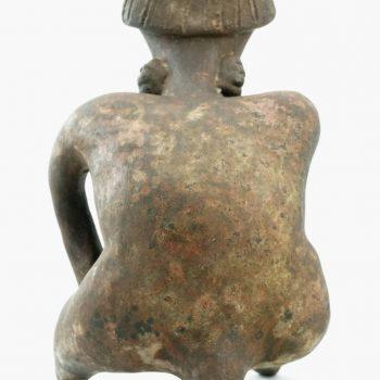 Pre Columbian Nayarit Figure of a Smoking Shaman, 200 BC-300 AD