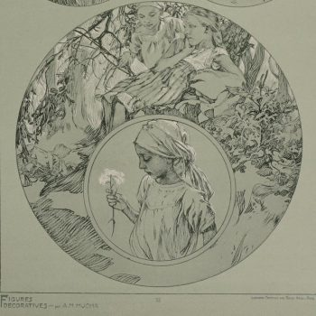 Alphonse Mucha Poster from Figures Decoratives 1905. Plate 32