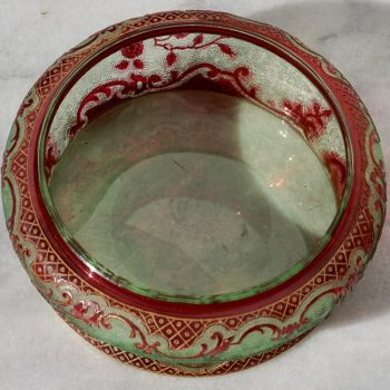 Baccarat France Chrystal Cameo Art Nouveau Powder Box