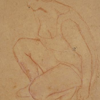 Aristide Maillol Crayon Drawing, 1910