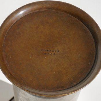 Tiffany & Co. Engraved Patinated Bronze Vase