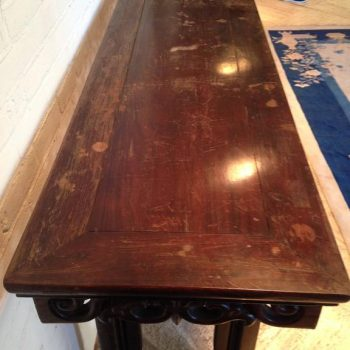 Chinese Altar Table 19th Century Qing 8 FT Long Mahogany Wood