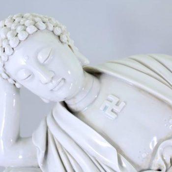 'Dehua' He Chaozong Figure of Resting Buddha, Qing Dynasty, 19th Century