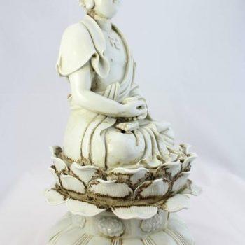 'Dehua' He Chaozong Figure of Buddha, Qing Dynasty, 19th Century