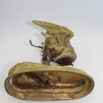 Jules Moigniez French Animalier Bronze, circa 1868, Sandpiper
