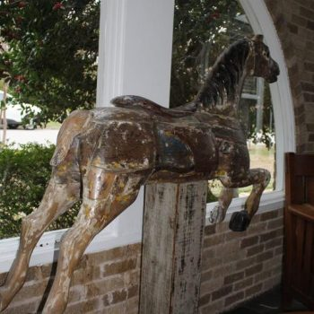Large 19th Century Parker American Carousel Horse