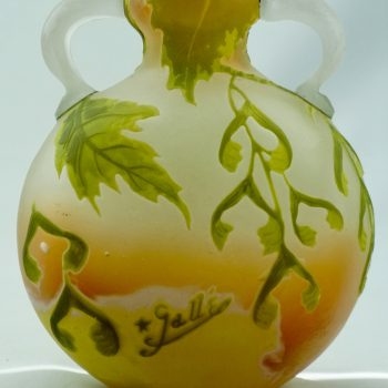 Emile Gallé Cameo Acid Etched and Wheel Carved Applied Handled Vase