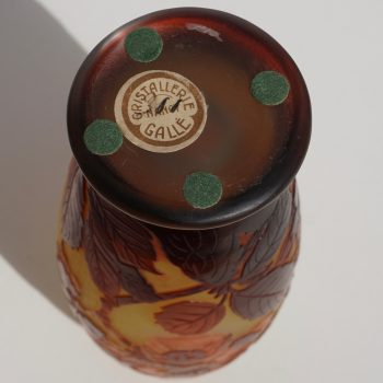 Emile Galle Window Pane Cameo Art Nouveau Vase