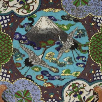 Japanese Meiji Cloisonne Charger Plate, circa 1890