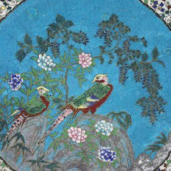 Japanese Meiji Period Cloisonné Charger Plate, circa 1885