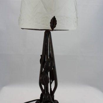 Muller Freres Luneville Art Deco Lamp, circa 1925