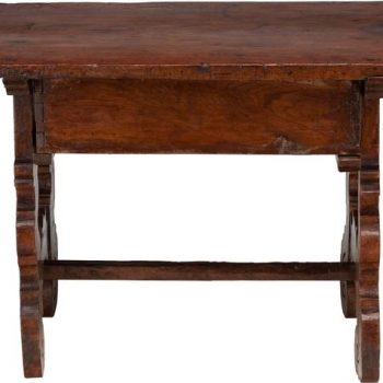 Spanish 18th Century Mahogany Refectory Side Table