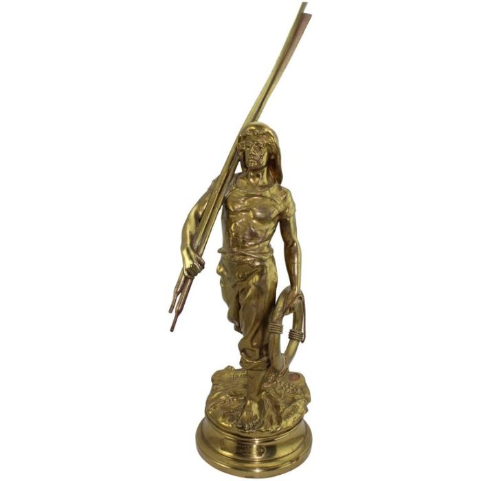 Antoine Bofill, Bronze of a Sea Man with Oars, French, circa 1900