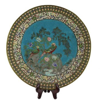 Japanese Meiji Period Cloisonné Charger Plate, circa 1885