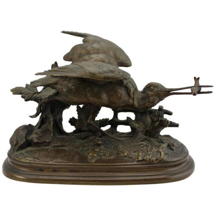 Jules Moigniez Bronze Sandpiper, 19th Century