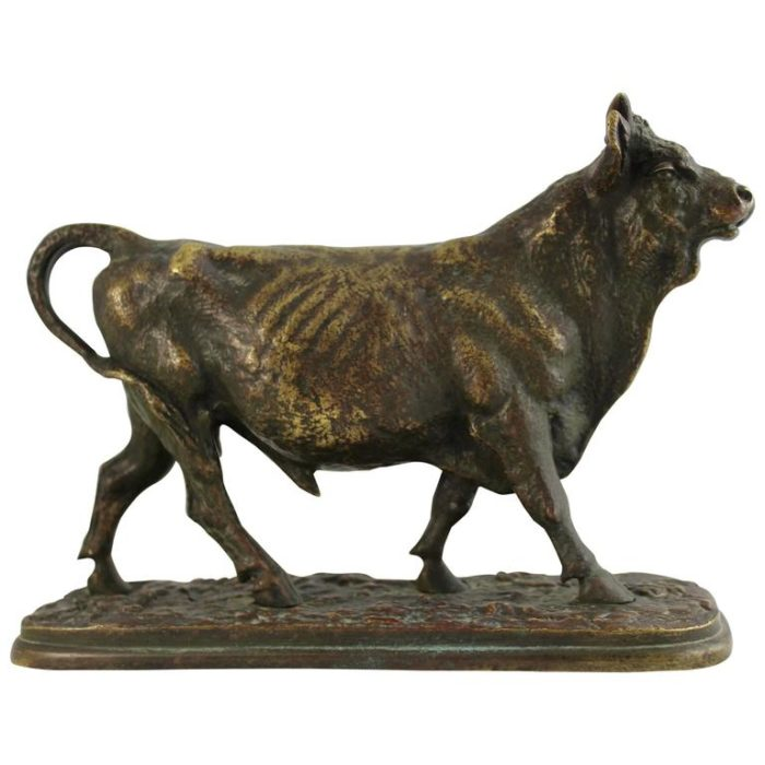 Christophe Fratin, The Bull, Bronze Sculpture