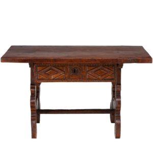 Spanish 18th Century Mahogany Refectory Side Table