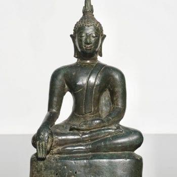 15th-16th Century Thai Ayutthaya Bronze Buddha