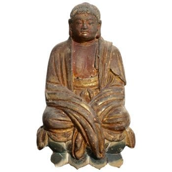 Early Ming Dynasty Chinese Buddha Statue, circa 14th Century