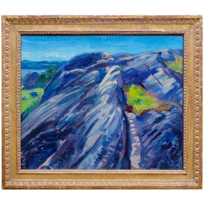 John Sloan, Blue Granite Rocks, Gloucester, 1915
