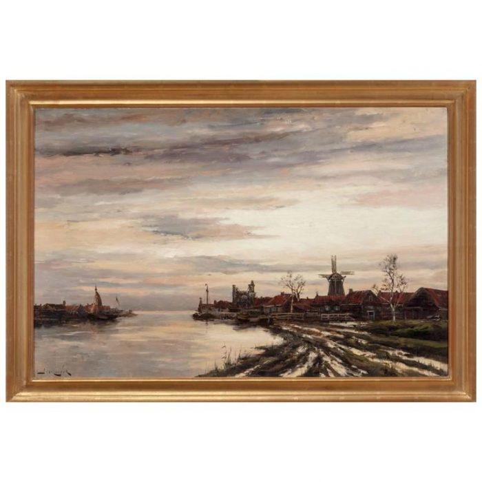 Hermanus Koekkoek Jr, View of Dutch Harbor In Winter