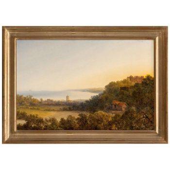Edmund John Niemann Painting, View of Dunster, Somerset