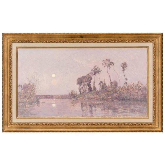 Hippolyte-Camille Delpy, French, Sunset River Landscape
