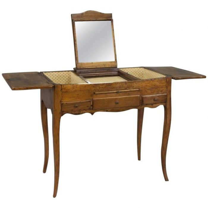 French, 18th Century Fruitwood Ladies Dressing Bedroom Table