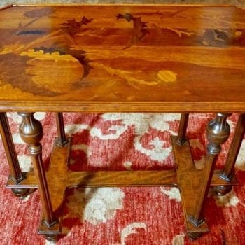 Emile Galle Cross of Lorraine Marquetry Side Table, circa 1885