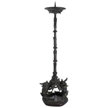 Ming Dynasty Temple Bronze Candle Pricket, 16th Century