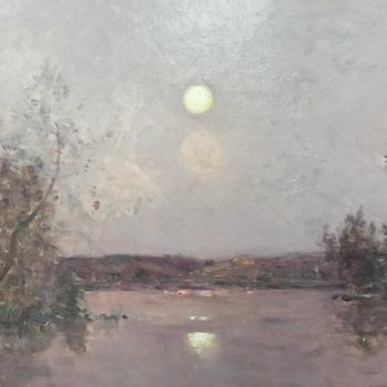 Hippolyte-Camille Delpy, French, Sunset River Landscape
