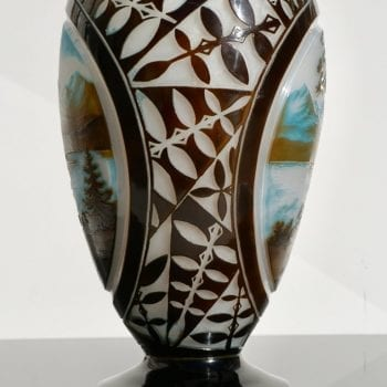 Monumental D'Argental Paul Nicolas Cameo Landscape Vase