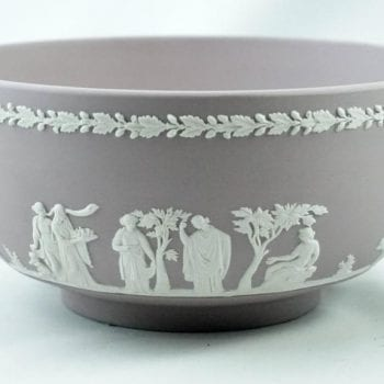 English Wedgwood Jasper Ware Lilac Sacrifice Bowl