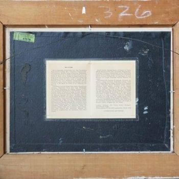 """Melville F. Stark """"The Boathouse"""" Oil on Canvas Board Mid-Century"""