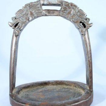 19th Century Tibetan Dragon Iron Horse Stirrups