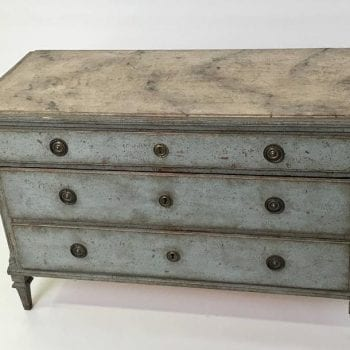 Gustavian Chest with Faux Marble Top, 19th Century