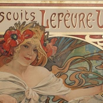 Alphonse Mucha Biscuits Lefeure Utile Poster, 1897