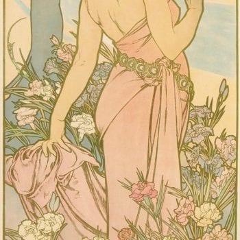 Alphonse Mucha Carnation Art Nouveau Poster, 1898