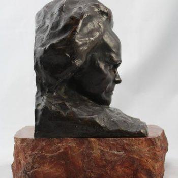 Paul Gaston Deprez Bronze Bust of Beethoven, circa 1900