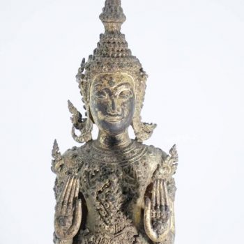 "19th Century Thai Standing Buddha ""Calming the Ocean"""