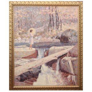 "C James Frazier O/C ""Cascades of Color"" Large Oil Painting"