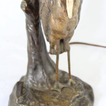 Emile Galle, Peter Tereszcuk Bronze and Cameo Glass Art Nouveau Lamp