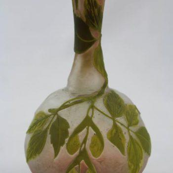 Emile Galle Cameo Glass Solifleur Cabinet Vase, circa 1900
