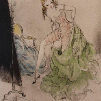 Three Louis Icart Erotic Etchings, 1938, Signed