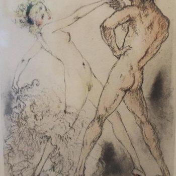 Three Louis Icart Erotic Etchings Signed