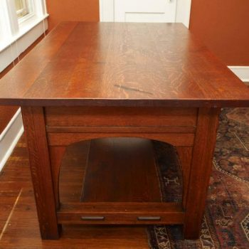 Charles Limbert Large Library Desk Table, circa 1905