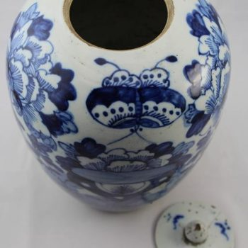 Chinese Blue and White Export Lidded Ginger Jar