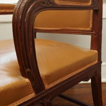 French Art Nouveau Important Desk Armchair, circa 1900