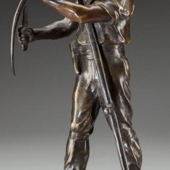 Henri Louis Levasseur (French, 1853-1934) Faucheur, circa 1910 Bronze Art Deco
