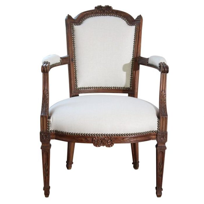Period Louis XVI 18th Century Upholstered Armchair Fauteuil